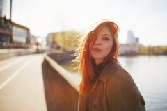 Sensual red haired beautiful girl Royalty Free Stock Photo