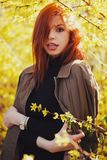 Sensual red haired beautiful girl Royalty Free Stock Images