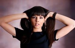 Portrait of sensual  woman Royalty Free Stock Photo