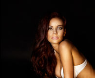 Portrait of sensual woman. Stock Photography