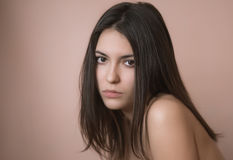 Portrait of sensual woman. Stock Photo