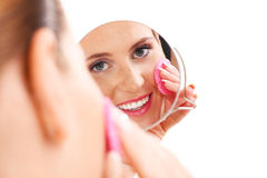 Portrait of a sensual woman removing makeup Stock Photo