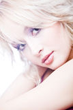 Portrait of sensual young blond woma Royalty Free Stock Photos