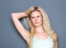 Portrait of a sensual young blond woman Royalty Free Stock Photography