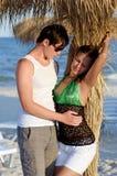 Portrait of a sensual young couple stock photos