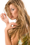 Portrait of sensual young woman Royalty Free Stock Images