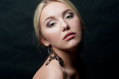 Portrait of sensual young woman Stock Photography