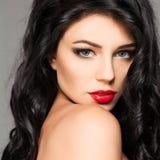 Portrait sensuel de beauté de mannequin de femme Images stock