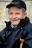 Portrait of Serbian senior man with cap Belgrade Serbia Royalty Free Stock Photos