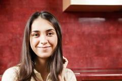 Portrait of serene brunette Stock Photo