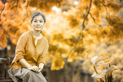 Portrait of serene mature woman Royalty Free Stock Photo