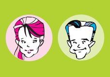 Portrait series - couple Stock Images