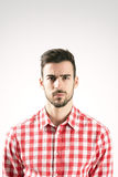 Portrait of serious angry offended bearded man Royalty Free Stock Image