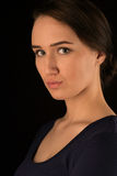 Portrait serious. Portrait of beautiful and serious woman Royalty Free Stock Photo