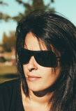 Portrait of a Serious Brunette Woman stock photo