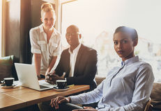 Portrait of serious business people Stock Photography