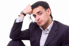 Portrait of the serious businessman Royalty Free Stock Photos