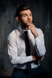 Portrait of a serious businessman Royalty Free Stock Photos