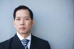 Portrait of a serious businessman Stock Photos