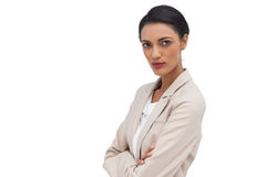 Portrait of a serious businesswoman with her arms crossed Stock Photo