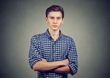 Portrait of a serious casual man royalty free stock images