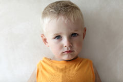 Portrait of serious child Royalty Free Stock Images