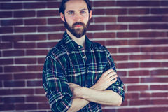 Portrait of serious confident man with arms crossed Stock Photography