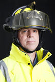 Portrait of Serious Firefighter Royalty Free Stock Photos