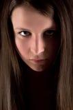 Portrait of serious girl Stock Photos