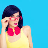 portrait of a serious girl Stock Images