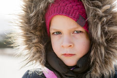 portrait of serious girl Royalty Free Stock Photography