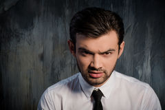 Portrait of a serious and gloomy man Royalty Free Stock Photo