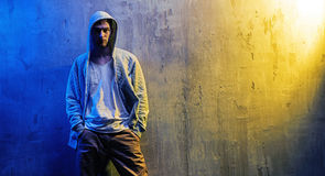 Portrait of a serious hip-hop boy Royalty Free Stock Images