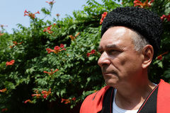 Portrait of a serious Kuban Cossack Stock Photo