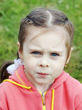 Portrait of serious little girl Royalty Free Stock Photos