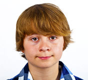 Portrait of serious looking cute boy Royalty Free Stock Images
