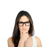 Portrait of serious looking young woman Royalty Free Stock Images