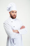 Portrait of a serious male chef cook Stock Images