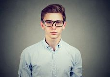 Portrait of a serious man in glasses Royalty Free Stock Images