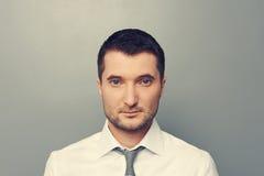 Portrait of serious man stock photo