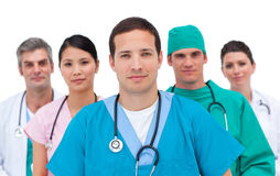 Portrait of a serious medical team Stock Image