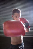 Portrait of serious muscular boxer Stock Photography