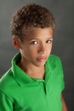 Portrait of Serious Preteen Boy Stock Photography