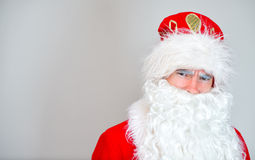 Portrait of serious Santa Claus. Royalty Free Stock Photo
