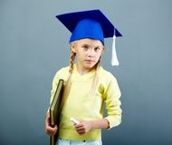 Clever schoolchild Royalty Free Stock Photos