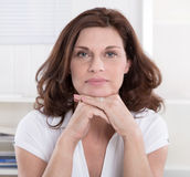 Portrait of serious senior businesswoman. Royalty Free Stock Images