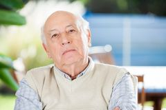 Portrait Of Serious Senior Man Stock Photography