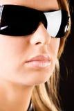portrait serious sunglasses woman Στοκ φωτογραφίες με δικαίωμα ελεύθερης χρήσης