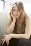 Portrait serious teen girl. Portrait of serious teen girl Royalty Free Stock Photos