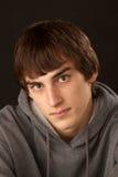 Portrait of serious teenage boy royalty free stock photos